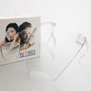 Anti Fog Plastic Protective Face Shield Safety Visor Face Shield With Box Clear PC Face Shield